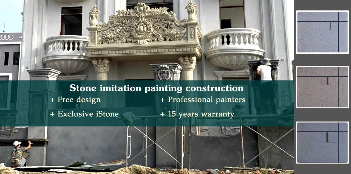 Stone imitation painting construction service